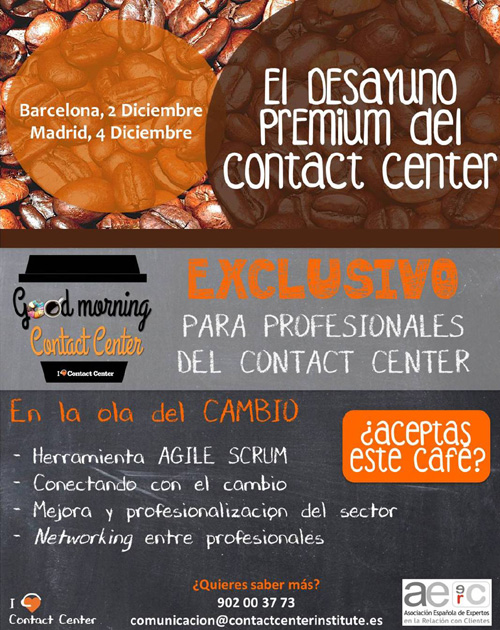 Good Morning Contact Center Desayunos profesionalización Contact Center Institute